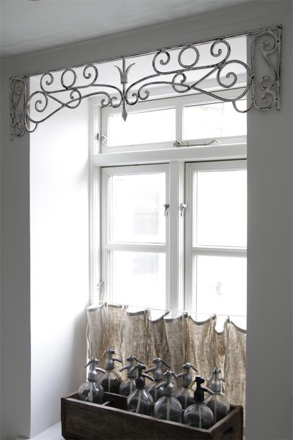 jeanne d arc fenster fries fensterfries vintage shabby chic antique metall wei ebay fenster. Black Bedroom Furniture Sets. Home Design Ideas