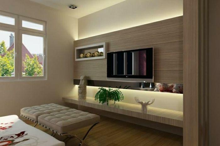 TV Wandpaneel - 35 ultra moderne Vorschläge - Archzinenet - moderne wohnzimmer gestalten