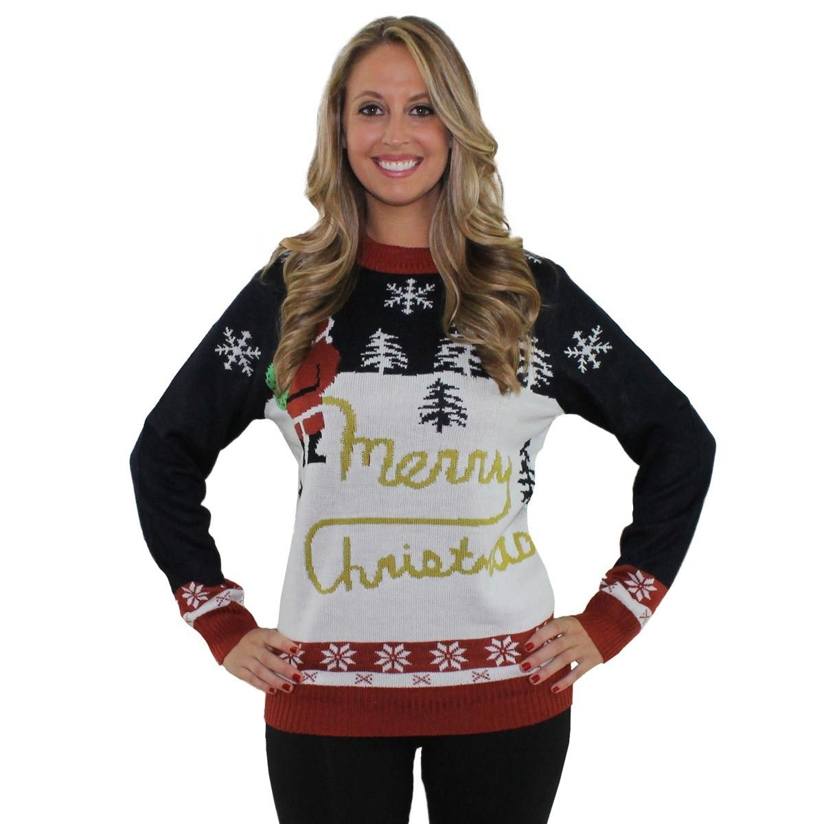 Yellow Snow Christmas Sweater   Tipsy Elves   $64.95