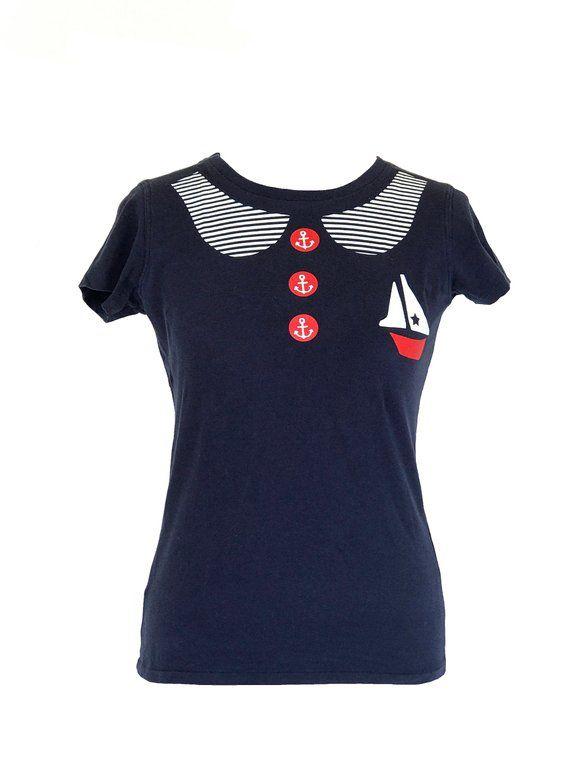 11bbc6b338fb0 90s LAZY OAF Vintage Style Sailor Nautical Design  clothing  shirt   EtsyMktgTool  sale
