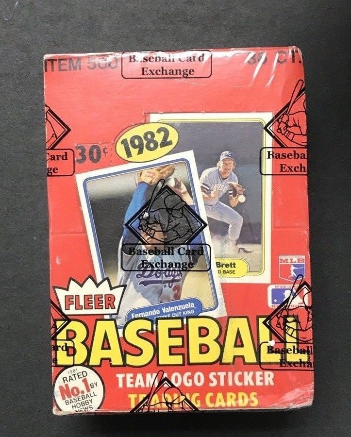 1982 fleer baseball unopened wax pack box bbce sealed