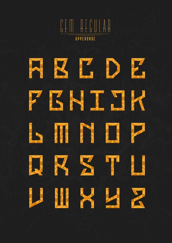GEM TYPEFACE by Delano Limoen, via Behance | Insane Typography