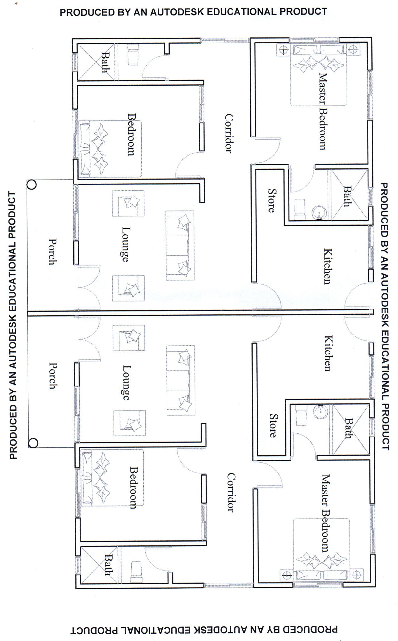 2 Bedroom House 20x30 House Plans Square House Plans Bungalow Style House Plans