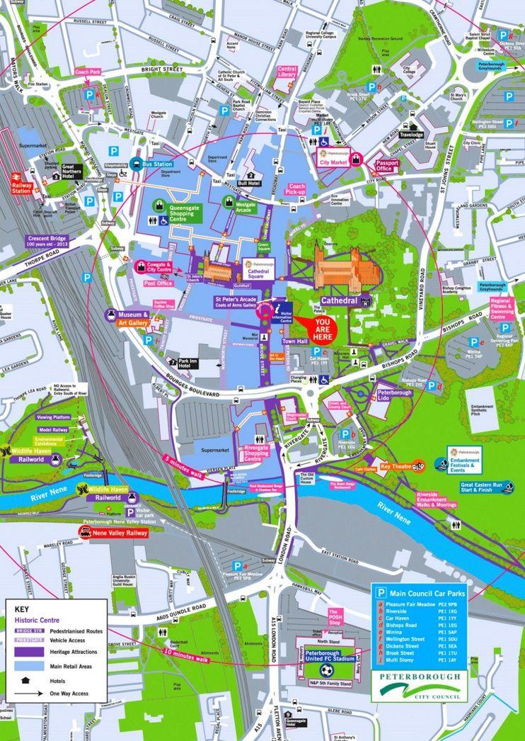 Peterborough tourist map Maps Pinterest Tourist map