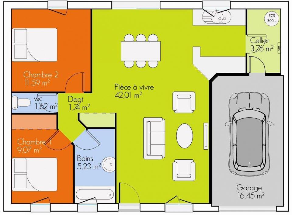 Epingle Par Hirigoyen Sur Deco Amenagement En 2021 Plan Maison 2 Chambres Plan Maison Plain Pied Plan Maison