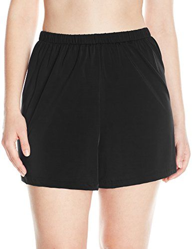 bd3551f7c2 Maxine of Hollywood Women s Plus-Size Solid Tricot Swim Shorts ...