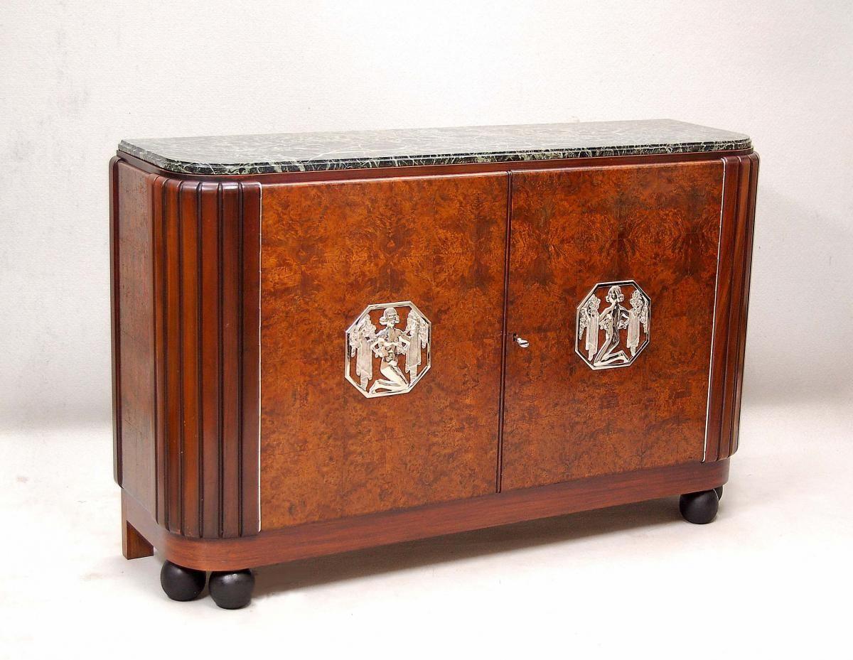 Furniture Artdeco In Rosewood Decoene Doors And Panels In Thuya With Rectangular Geometric Patterns Door Pan Meubles Art Deco Design Art Deco Style Art Deco