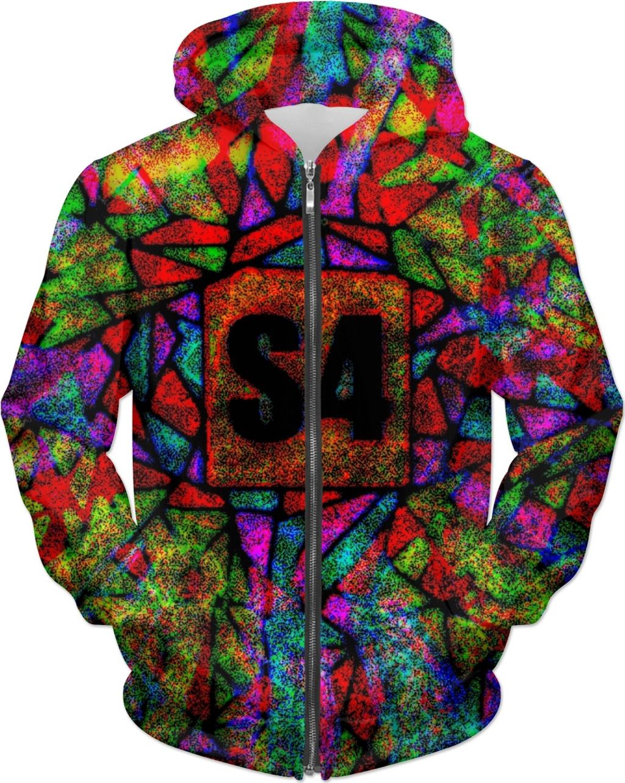 S4 Rainbow Splash Pixel Custom Hoodie with high definition
