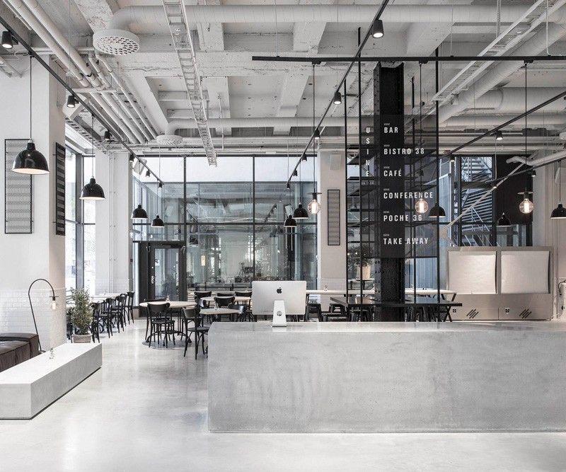 Steuerbeh rde in stockholm umgebaut in elegantes for Raumgestaltung cafe