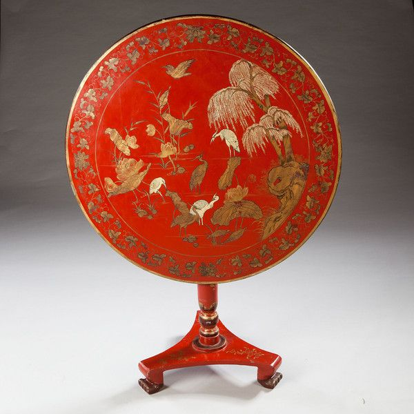 A Chinese Export Red Lacquer Table (600×600)