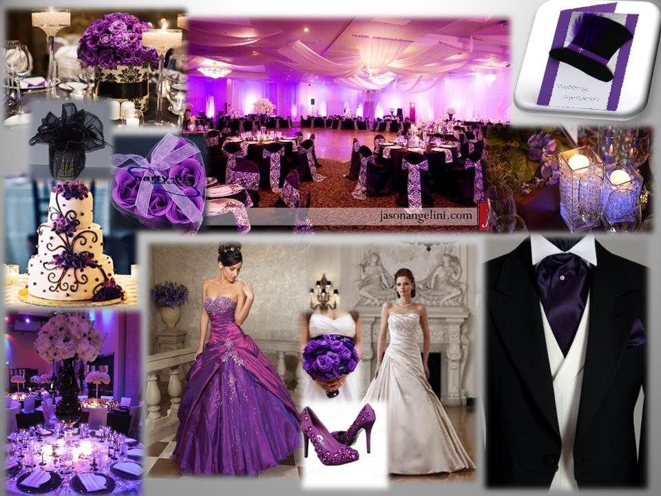 Black Purple Wedding Theme