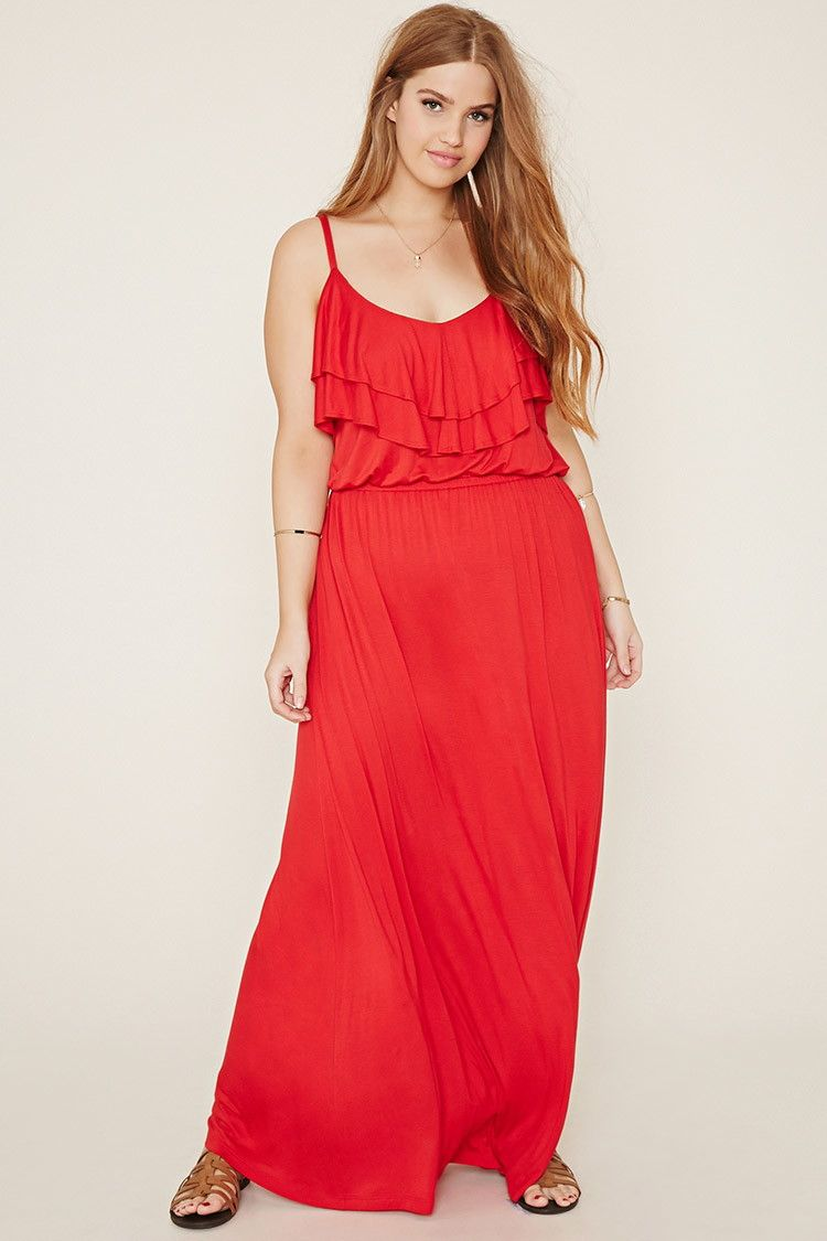 Plus Size Ruffled Maxi Dress   Forever 21 PLUS - 2000169618   Outfit ...