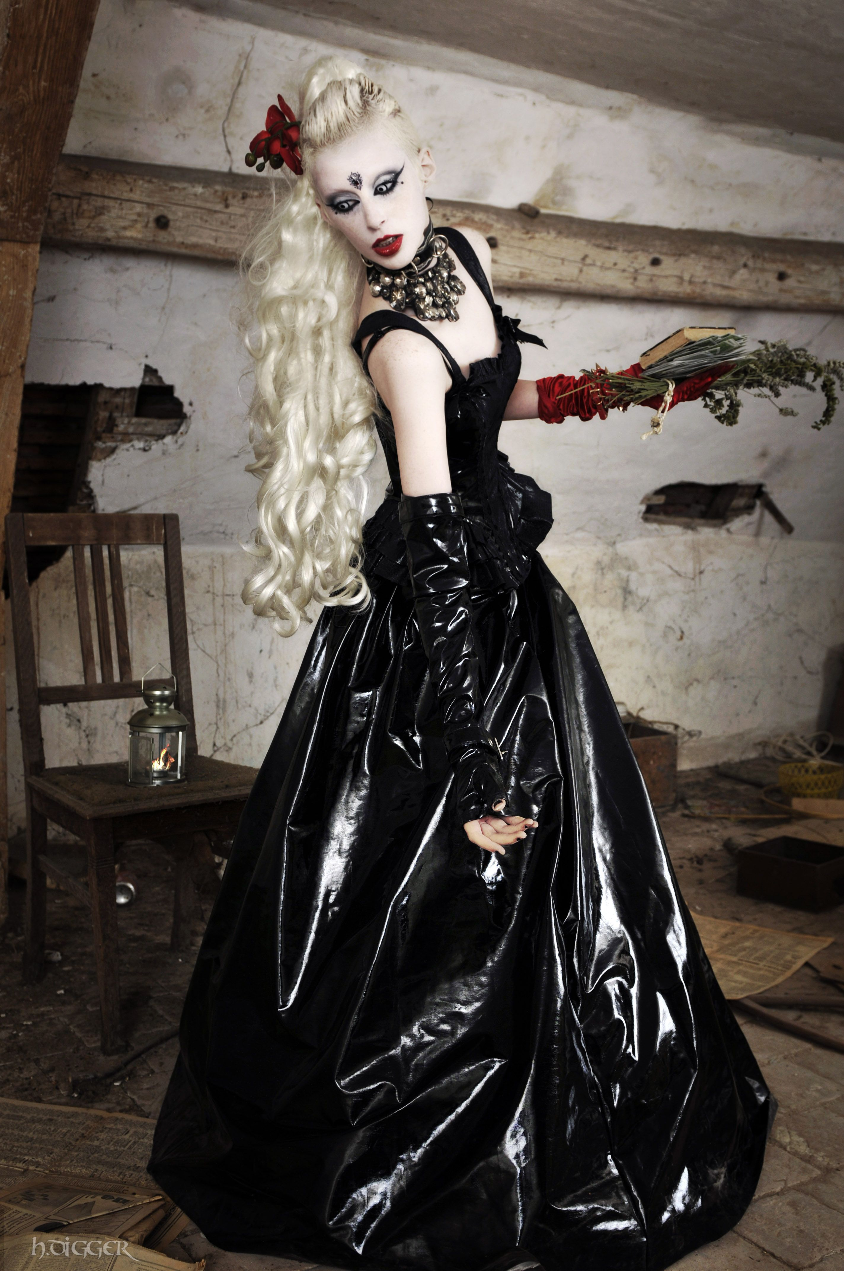 By H. Digger / Model Jack Eles / Clothing (skirt) by Damien DE MAN - (top & sleeves) Lip Service Cult