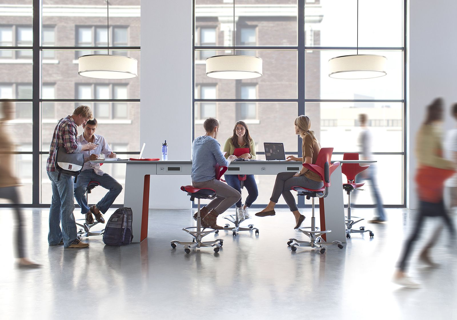 for larger open offices try collaborative furniture that breaks up