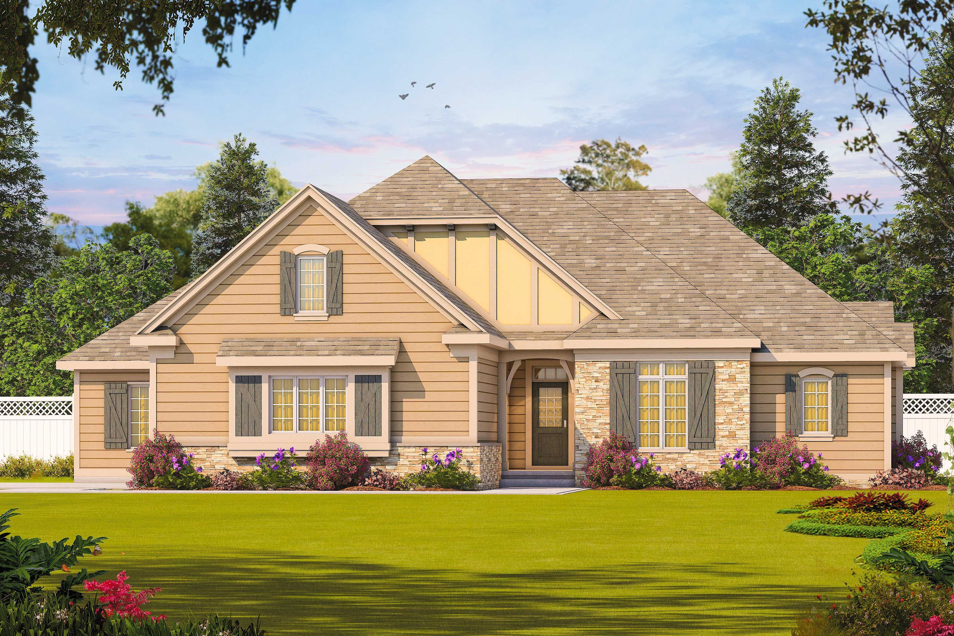 Like A Lot Super Simple One Roof Line With Bedrooms Downstairs Perfect Sloping Lot House Plan Sloping Lot House Plan New House Plans Small House Plans