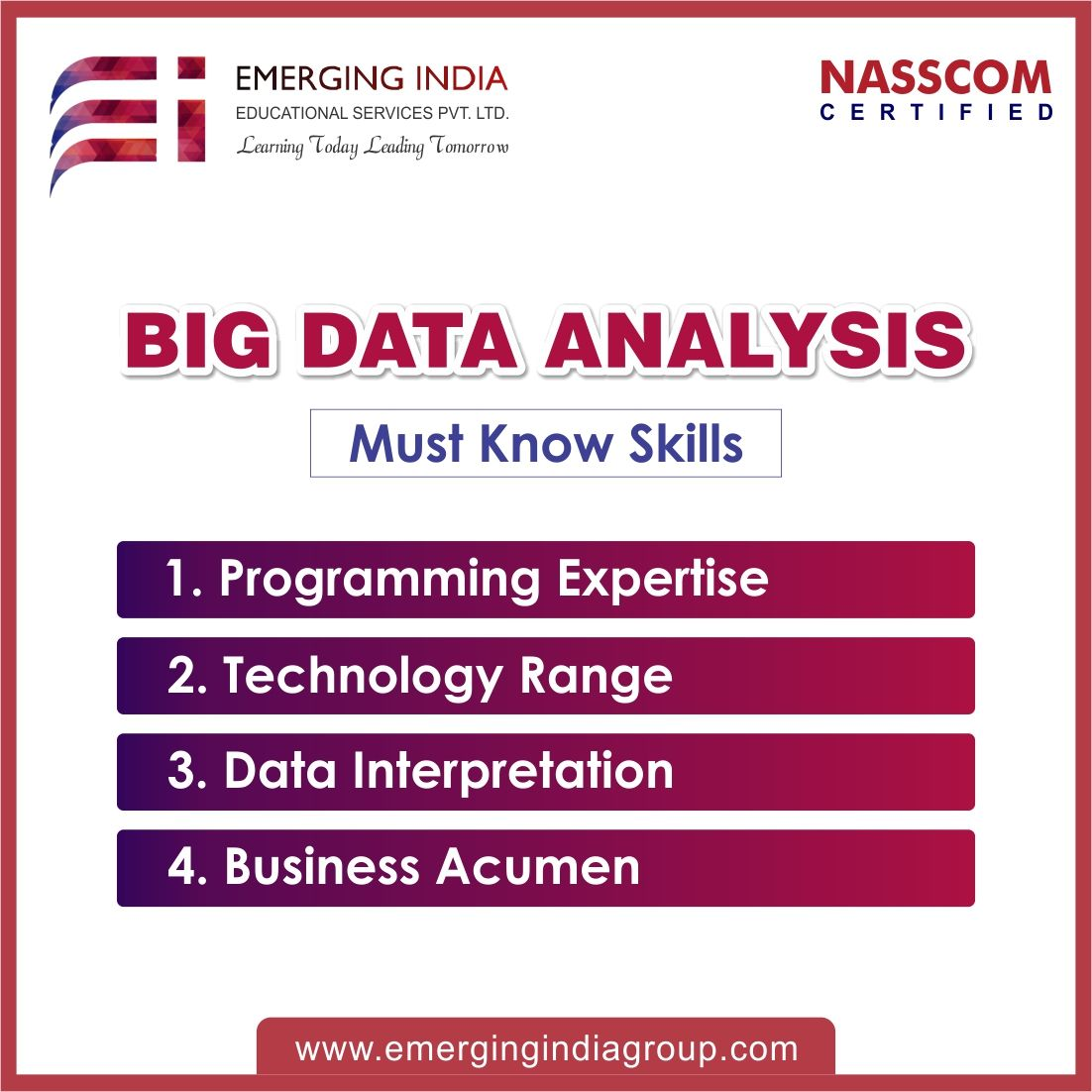 Big data is the sparking revolution in the field of
