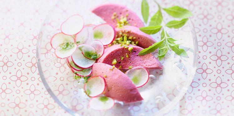 Mousse de betterave rouge aux radis roses | Recette (avec ...