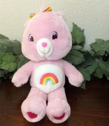 2008 Cheer Bear Care Bears Rainbow Bow Pink Heart 14