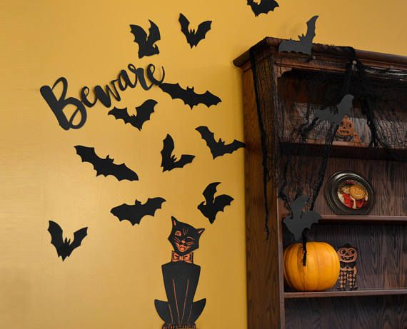 Flying Bats Decorations Indoor Outdoor Waterproof Foam Diy Decor