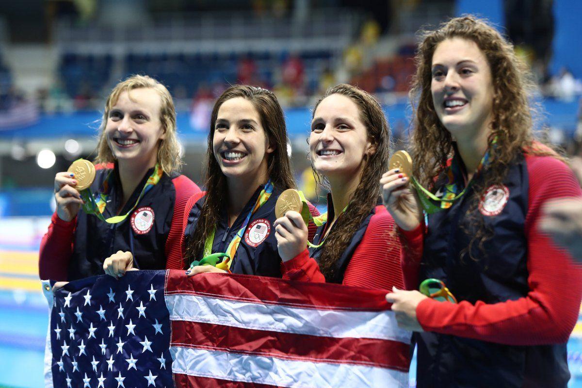 (6) Twitter Olympic hero, Olympic swimmers, Ledecky