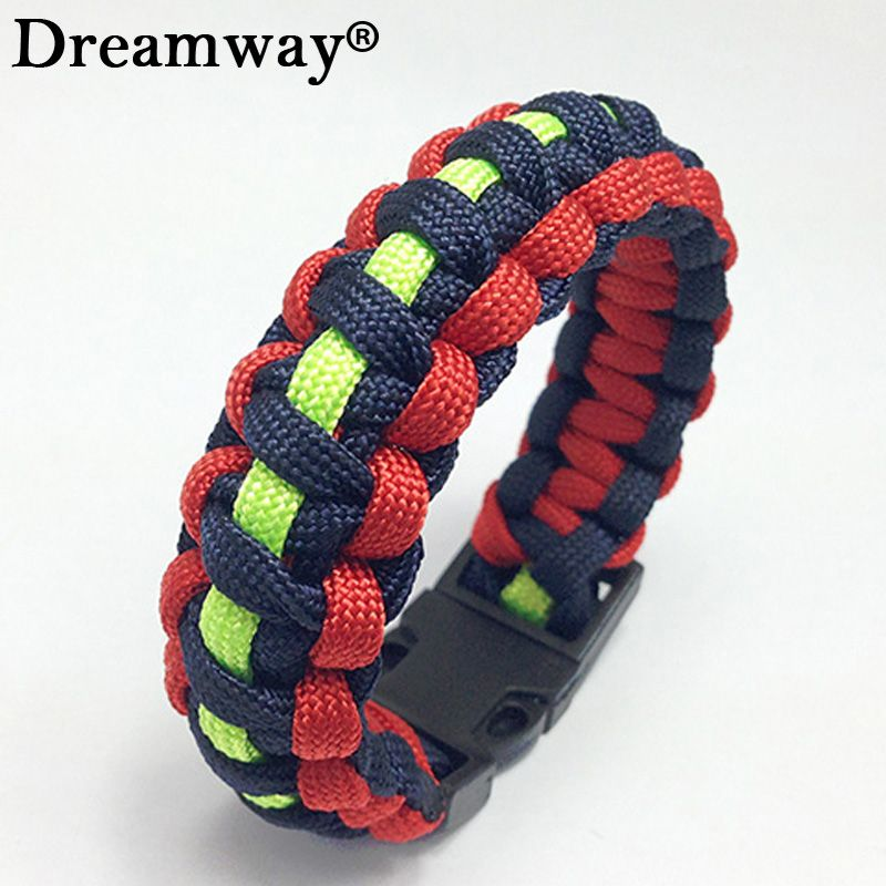 Click To Buy Outdoor Braided Pulseras Rescue Paracord Bracelet