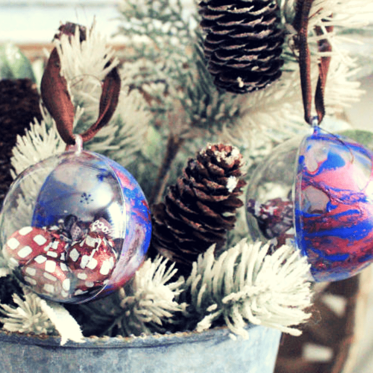 How To Make Nail Polish Dipped Christmas Ornaments Christmas