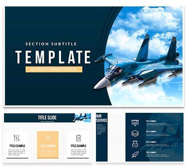 Combat Plane Powerpoint Template Presentation Pinterest Template