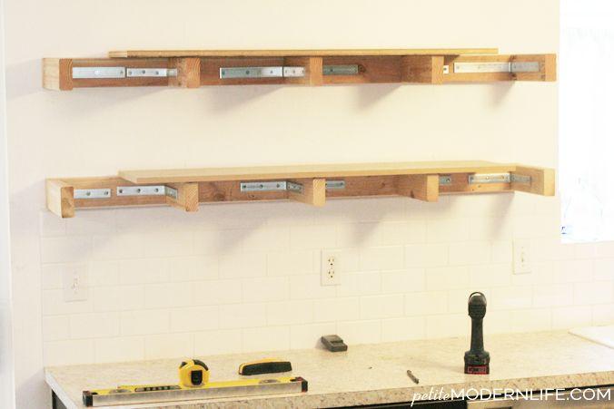 heavy duty floating shelves home office pinterest bricolage rh pinterest fr how to build heavy duty garage shelves Wood Shelf