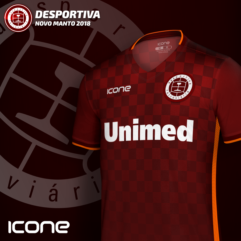 Uniforme 1 2018 da Desportiva Ferroviária - ES. Produzida pela Icone Sports  o melhor material 9ffa3b036267a