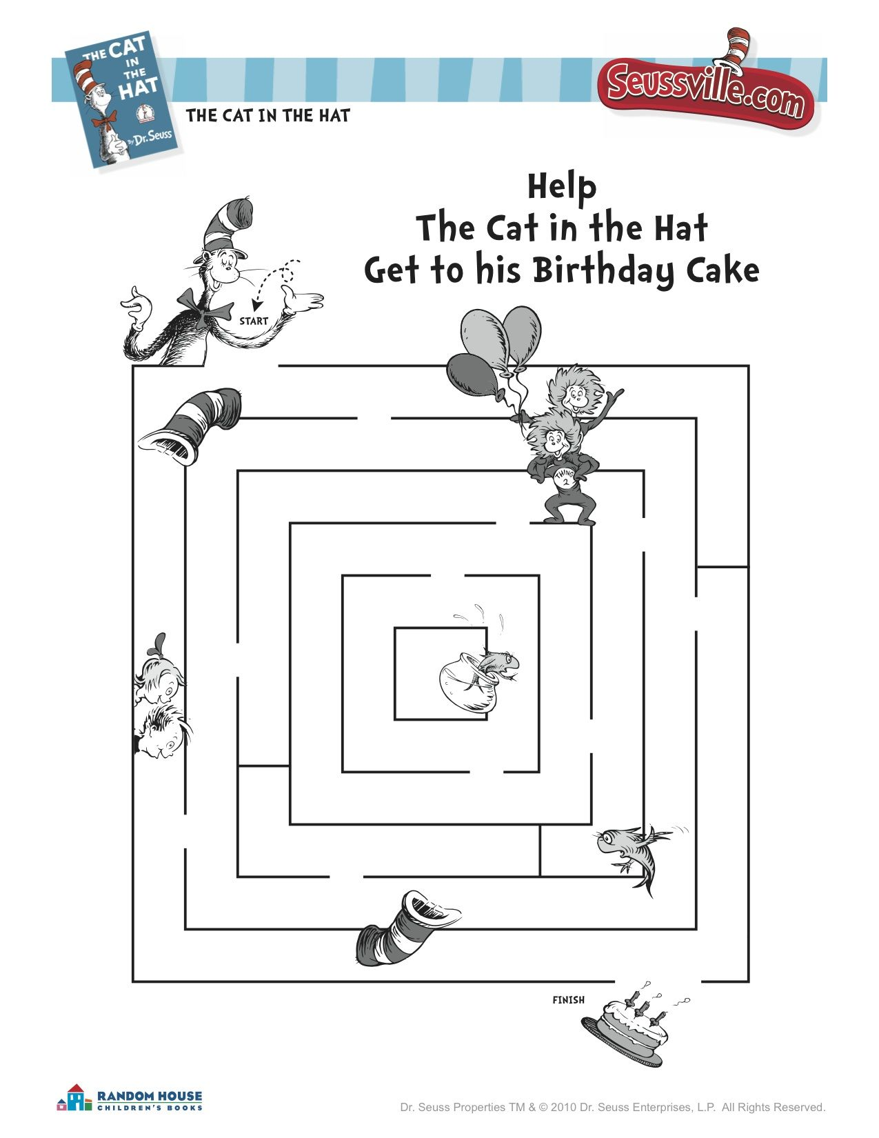 Cat In The Hat Birthday Maze