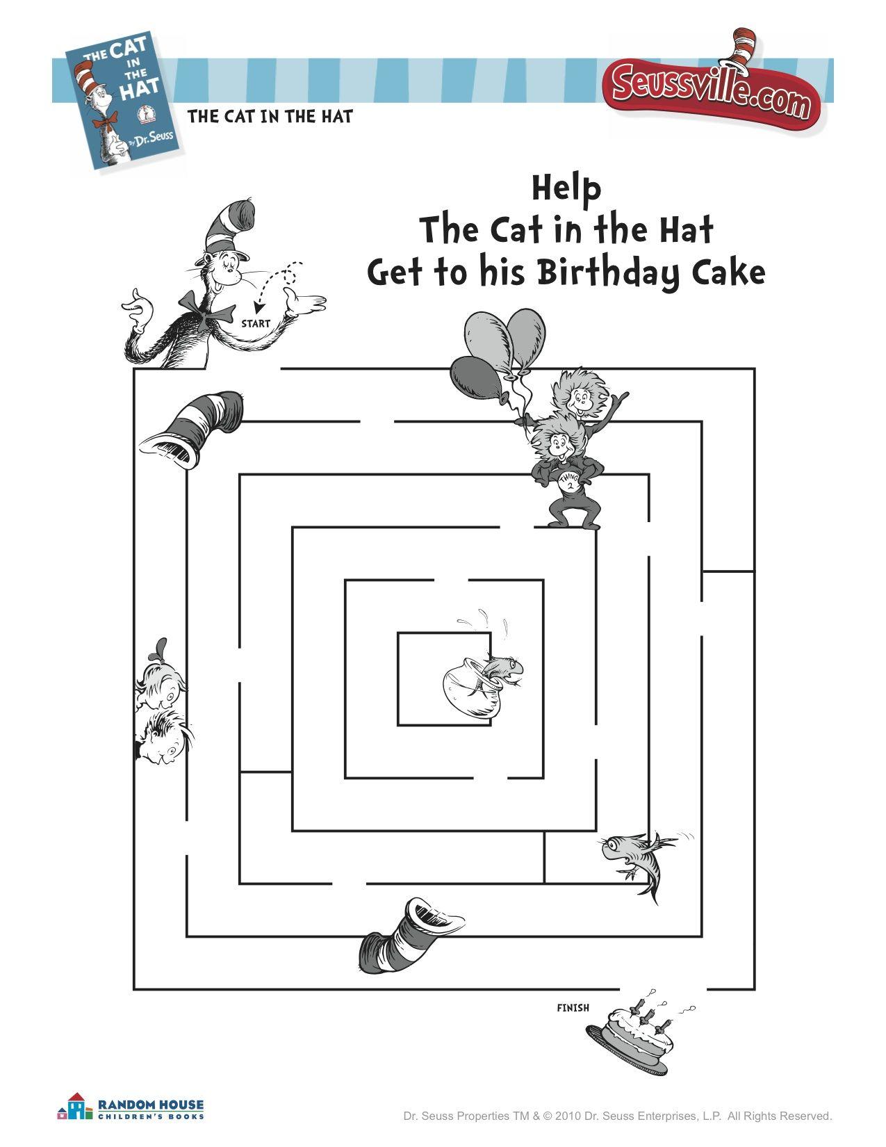 Dr Seuss Worksheets For Second Grade. Dr. Best Free Printable ...