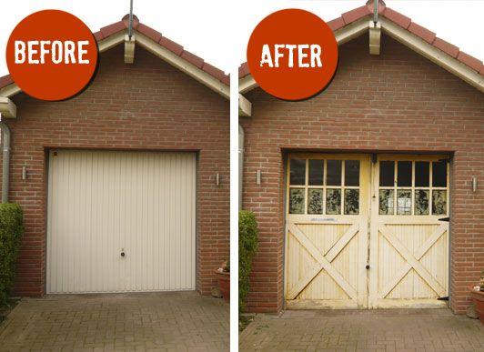 Totally Crazy Garage Door Covers Garage Doors Garage Style Doors