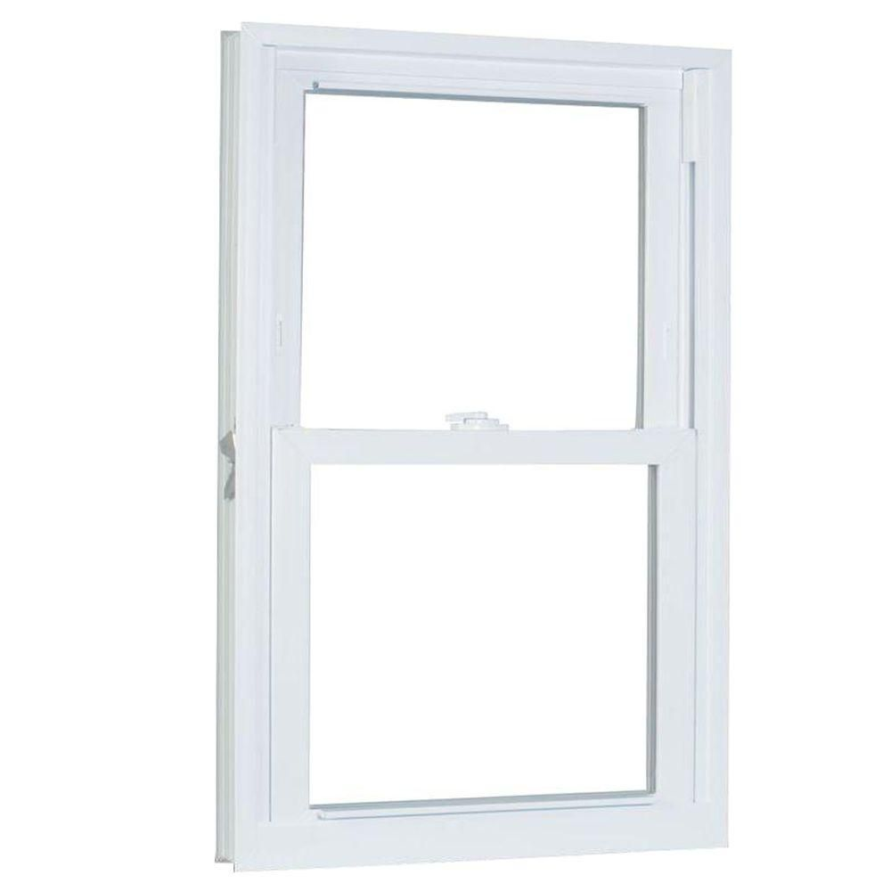 American Craftsman 35 75 In X 49 25 In 70 Series Pro Double Hung White Vinyl Window With Buck Frame 3650786 The Home Depot Double Hung Windows Double Hung Window Vinyl