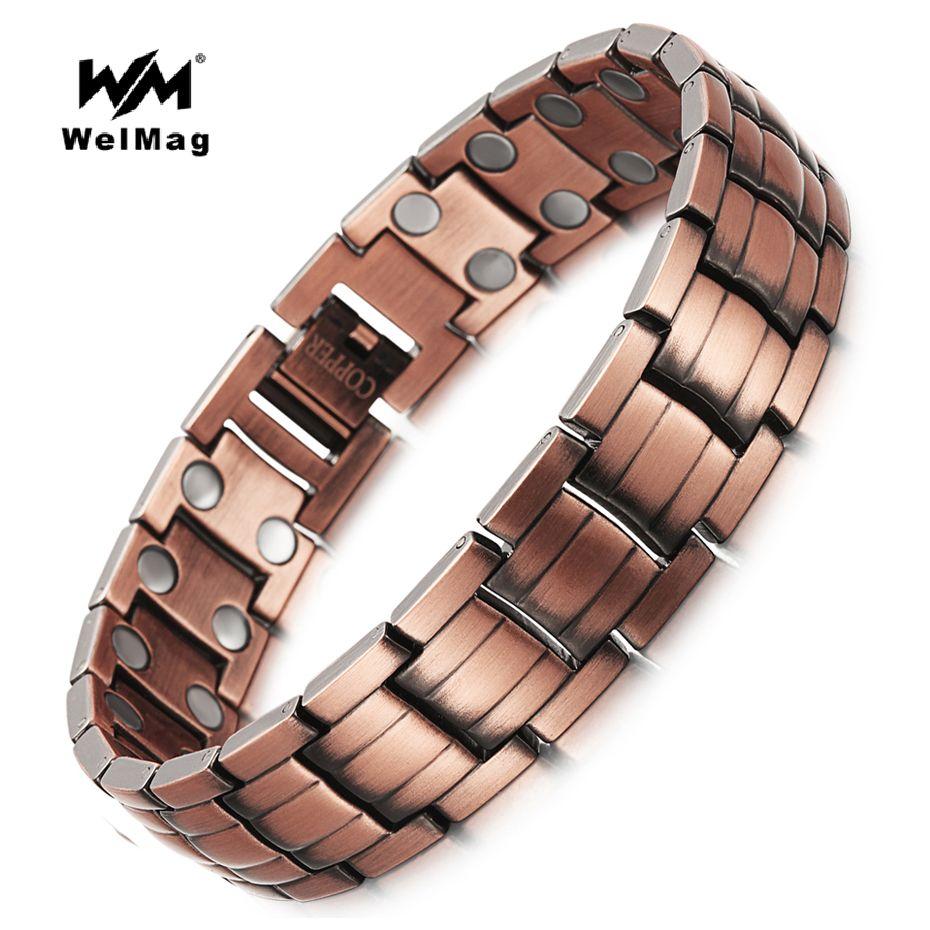 Buy welmag healing magnetic copper bracelets bangle for men bio