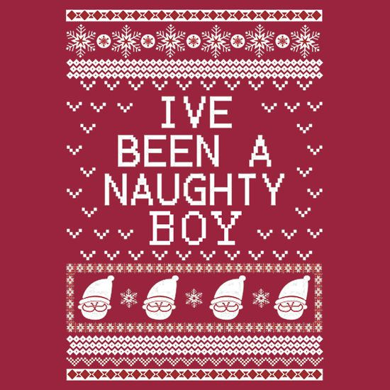 Ugly christmas sweater naughty boy this design available on unisex t shirt