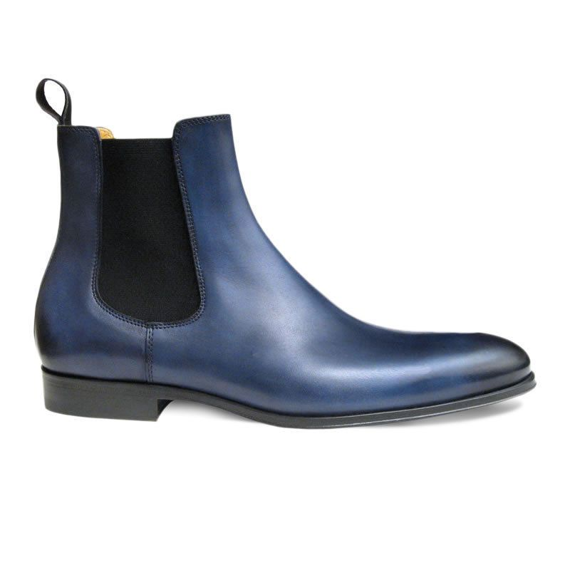 leather boot, Men ankle boot