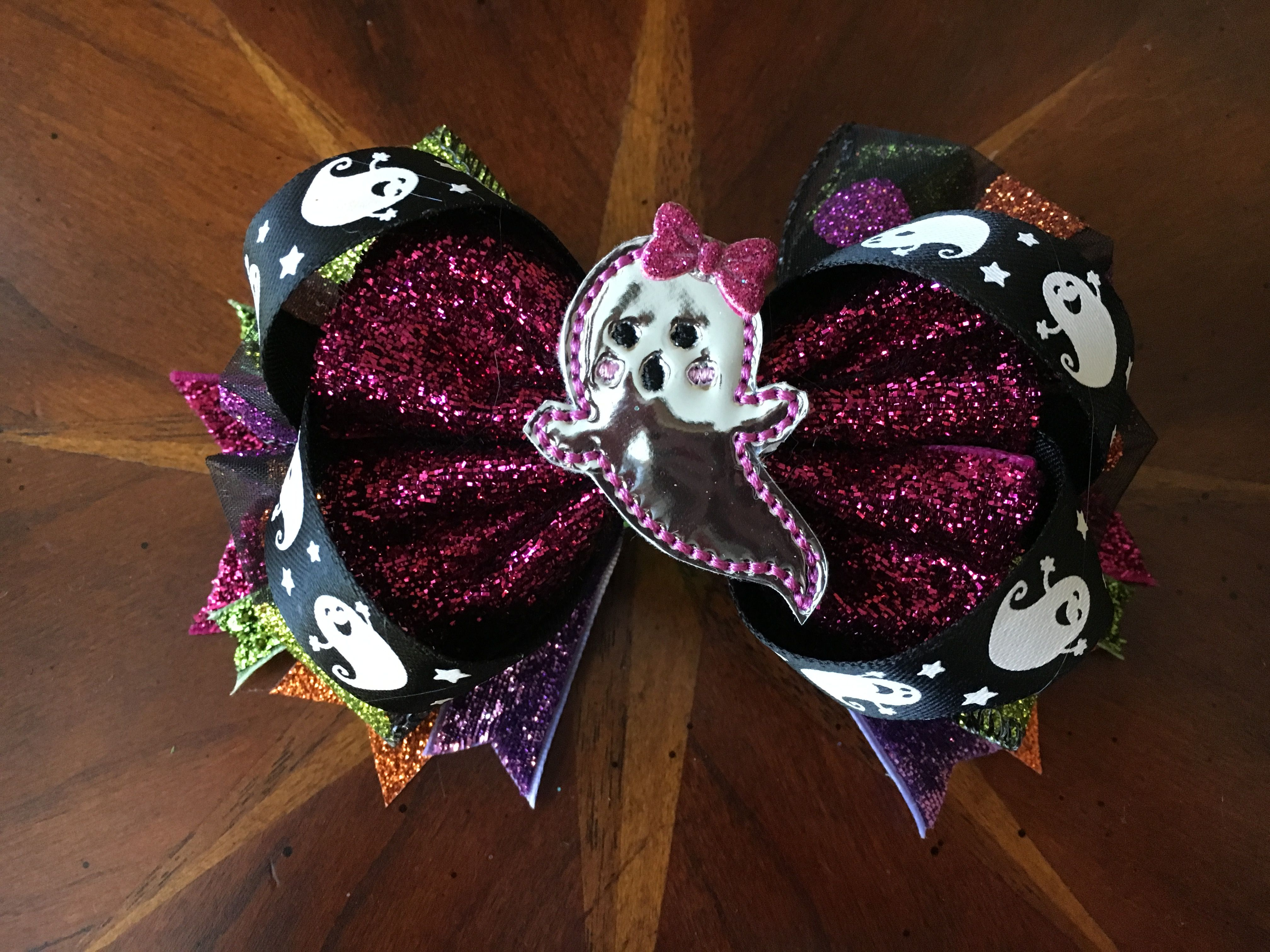 The ghosty bow is awfully cute not scary! Only 5 more days