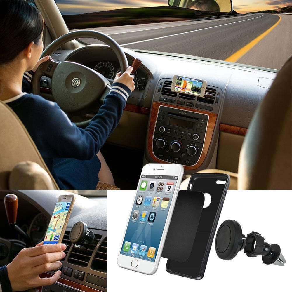 981be3062f30 Universal Cell Phone Gps Air Vent Magnetic Car Mount Stand Box ...