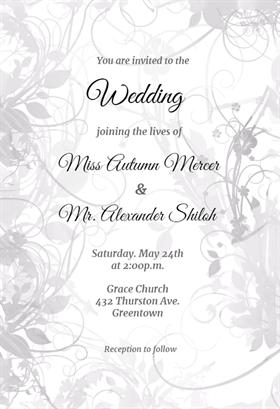 Floral Swirls Wedding Invitation Template (free Free