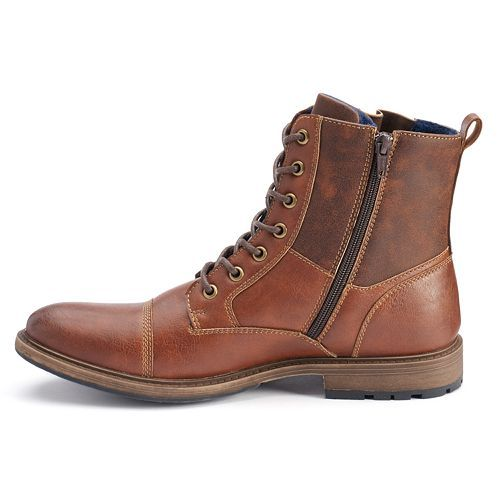Apt. 9® Men s Cap-Toe Lace-Up Combat Boots   Stuff   Pinterest ... 0a9c4df3de