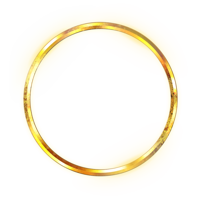 Golden Circle, Gold, Bright, Light Spot PNG Transparent