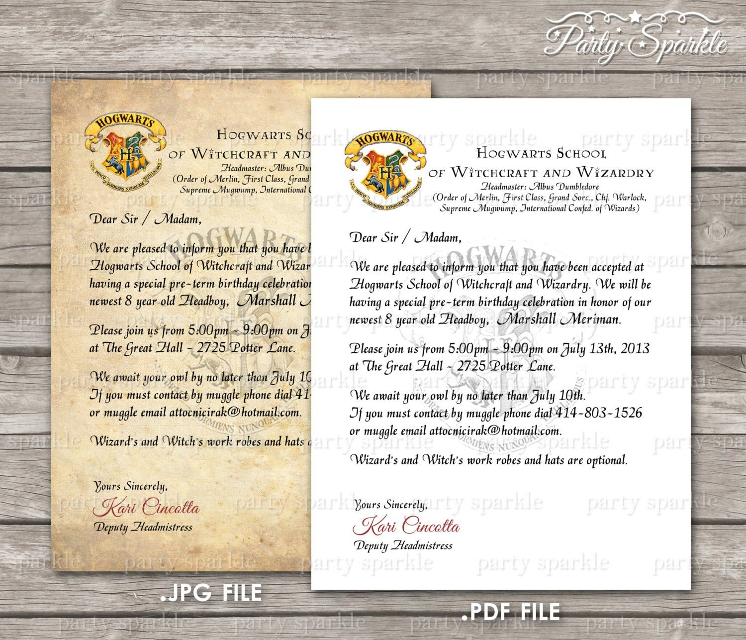 Hogwarts Acceptance Letter Party Invitation Template Why You Must Experi Hogwarts Acceptance Letter Harry Potter Birthday Invitations Harry Potter Invitations