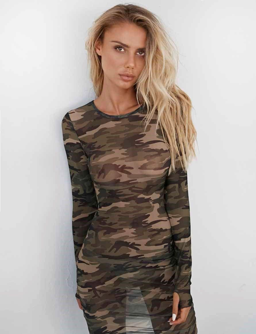0e2c424dcd330 Banshee Camo Dress | Dresses | Camo dress, Dresses, Spandex dress