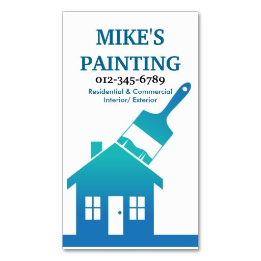 House painters business card business cards reviews house painters business card house painters business card online after you search reheart