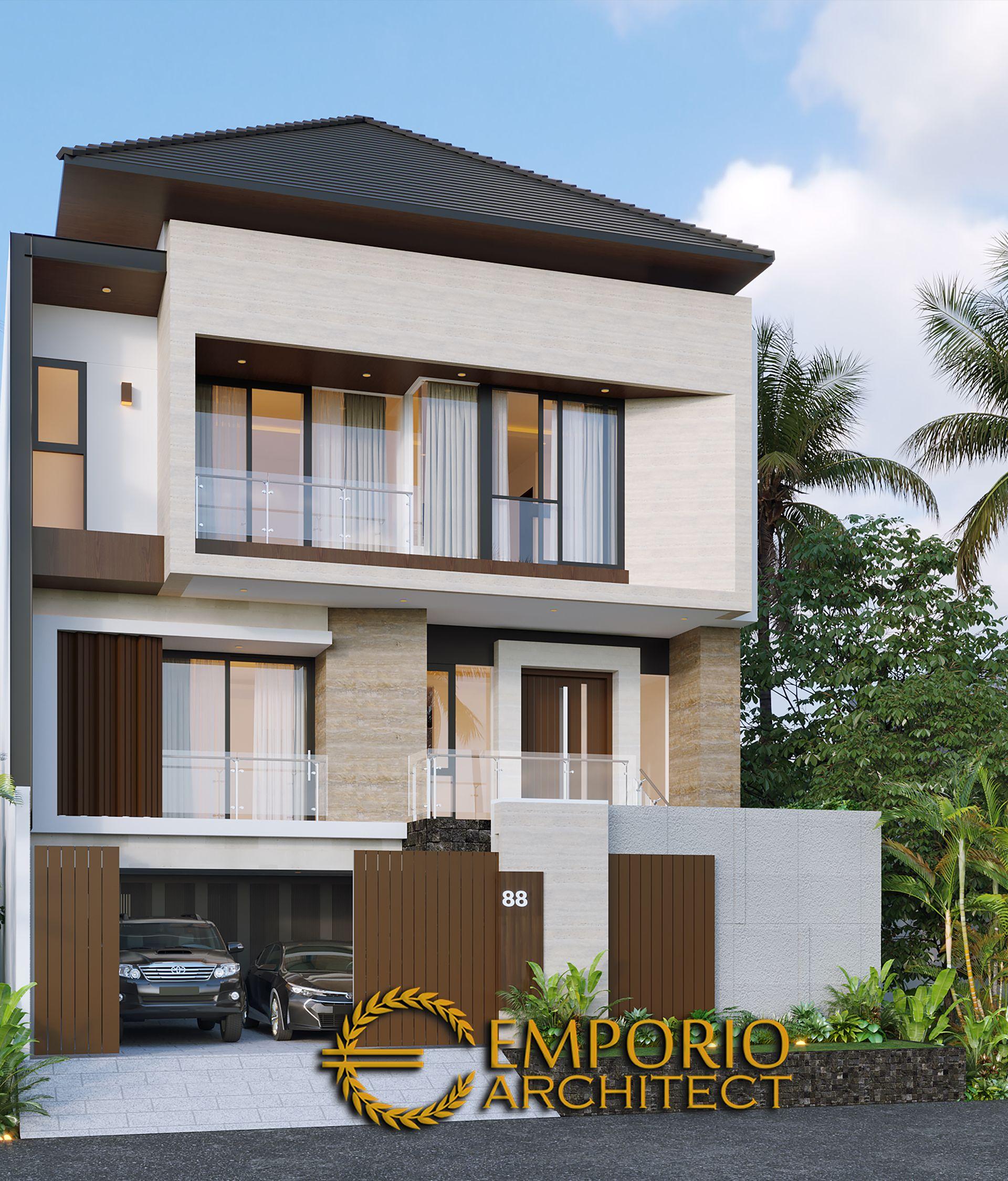 Mr Liu Ii Modern House 3 Floors Design Jakarta Barat Desain Eksterior Rumah Rumah Modern Desain Rumah Modern