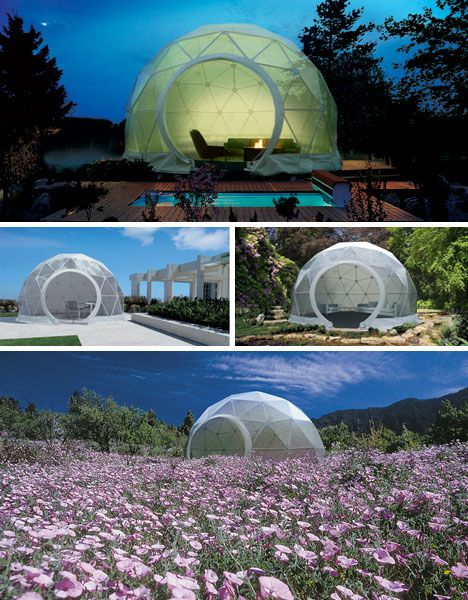 Dome Home Design Ideas: Lightweight Living: Global 4-Season Geodesic Dome Homes