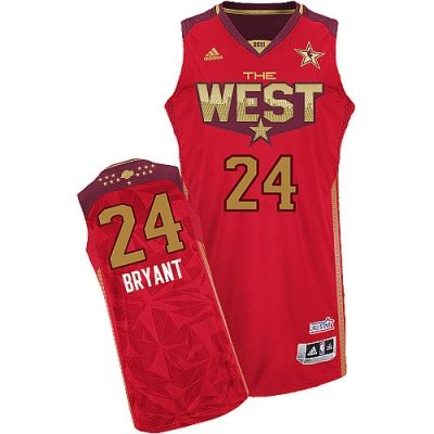 NBA Los Angeles Lakers #24 Kobe Bryant Red Authentic 2011 All Star Jerseys