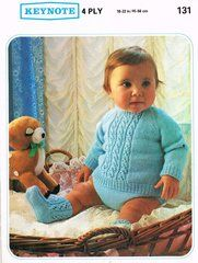 f53682a2298101 Keynote 131 baby jumper and pants set vintage knitting pattern ...