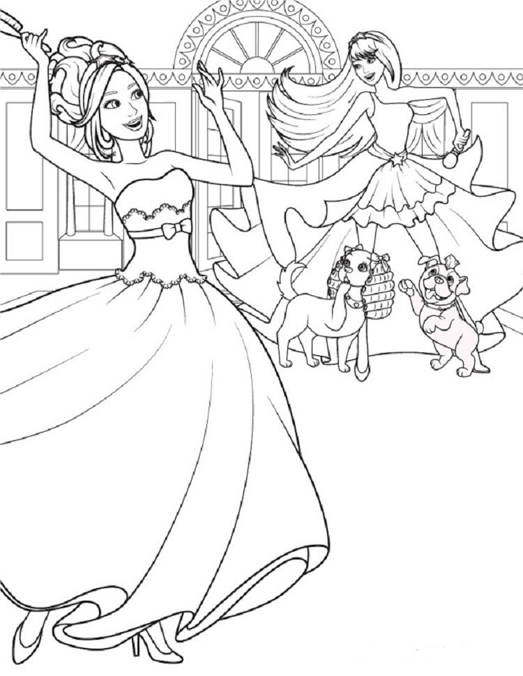 Barbie And The Diamond Coloring Pages