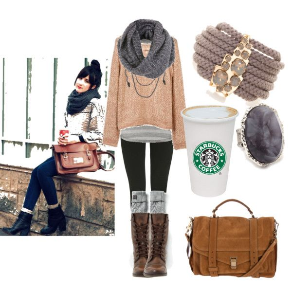 Perfect for fall...love love love! minus the starbucks cup...not sure what it has to do with the outfit